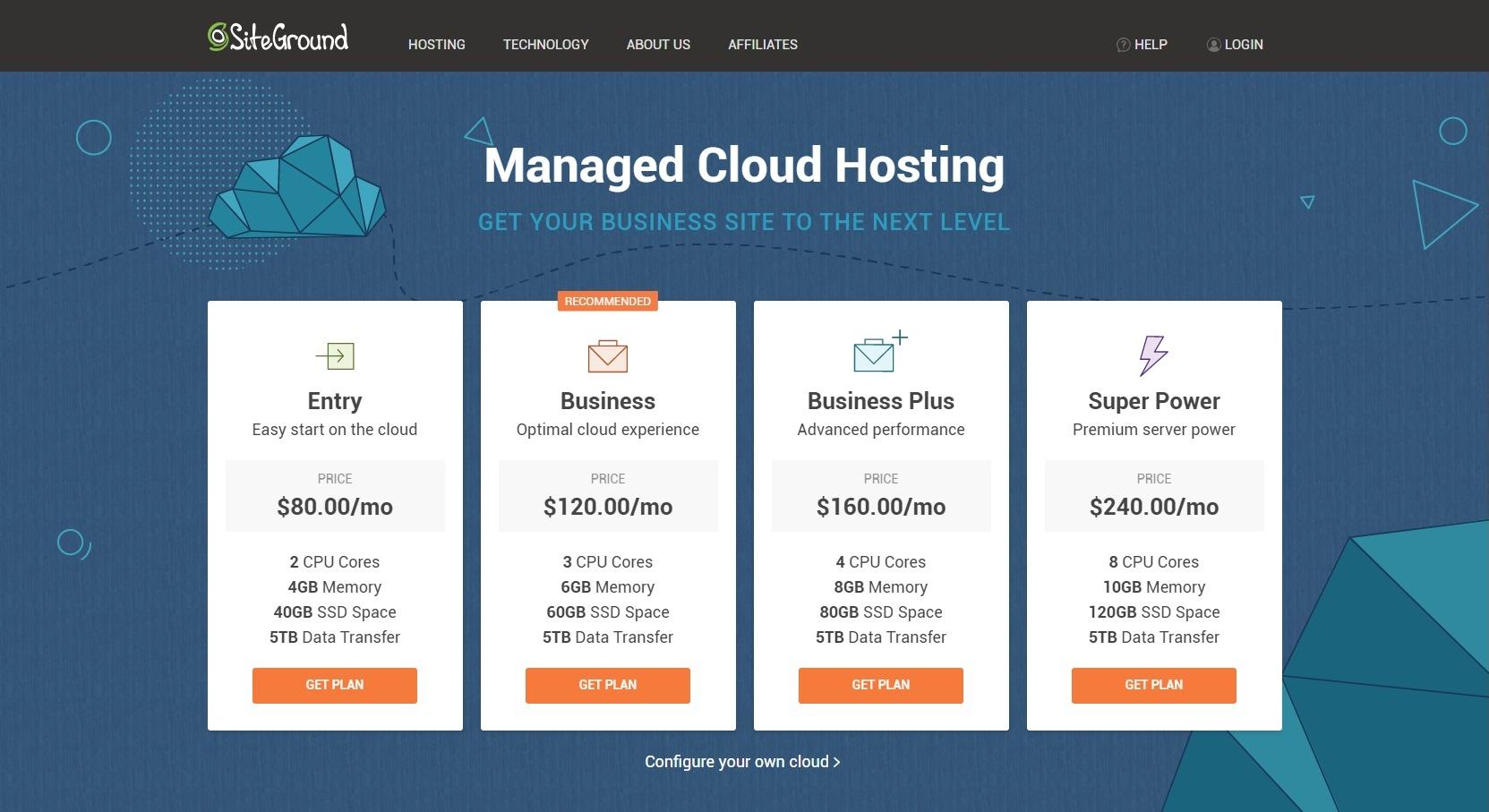 cloud hosting siteground