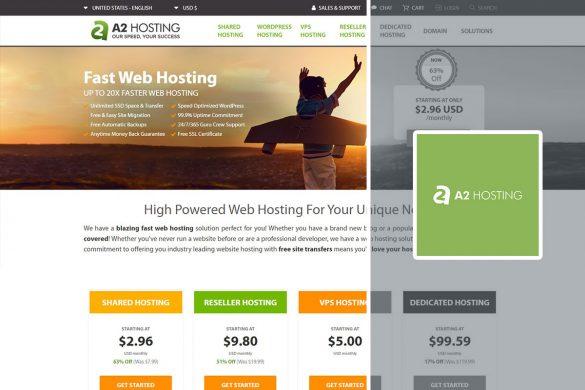 a2hosting homescreen