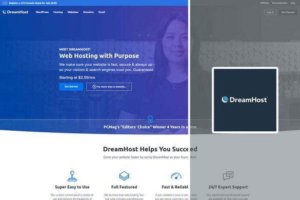 dreamhost homescreen