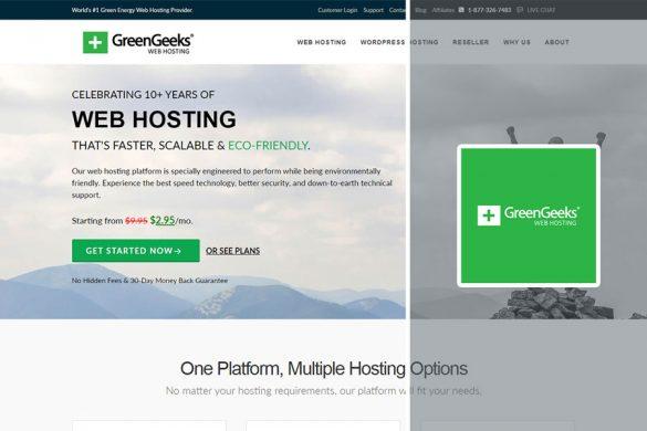 greengeeks homescreen