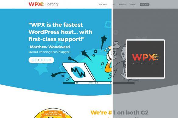 wpxhosting homescreen