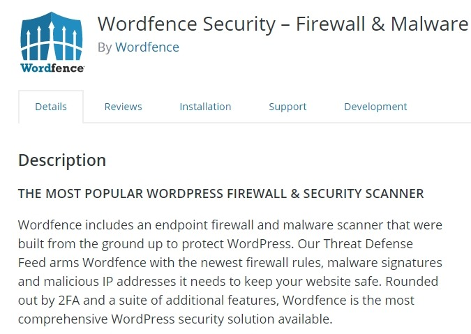 description section for a wordpress plugin
