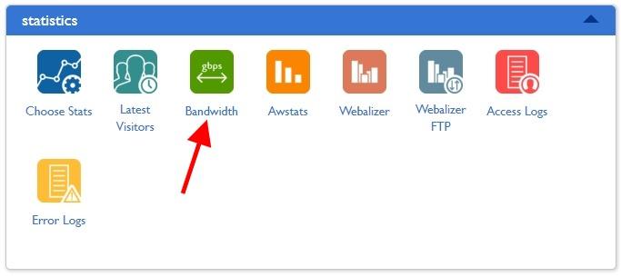 bandwidth bluehost cPanel