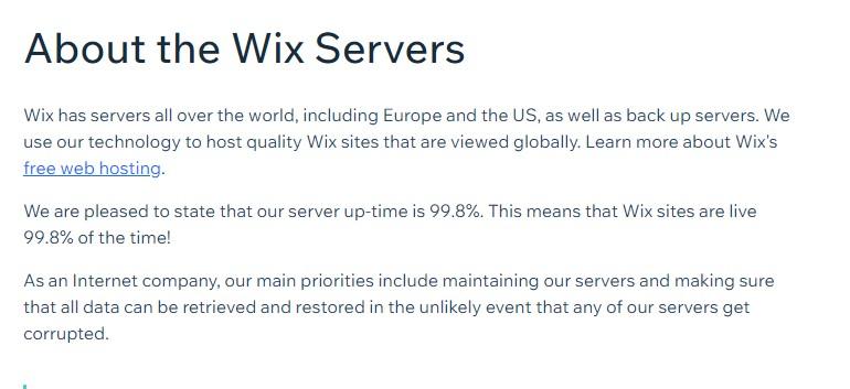 Wix server location