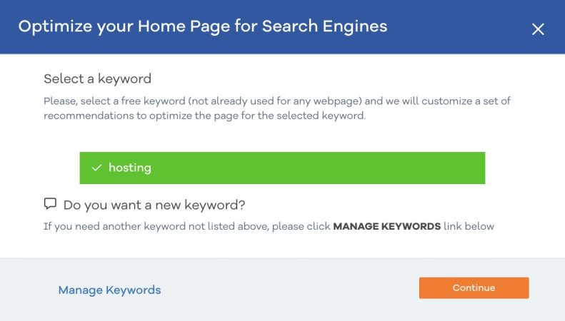 HostGator SEO Tools keyword analysis