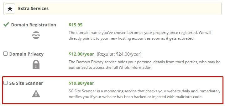 SiteGround SG Site Scanner cost worth it