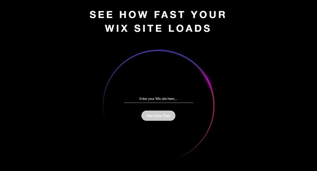 wix page speed test