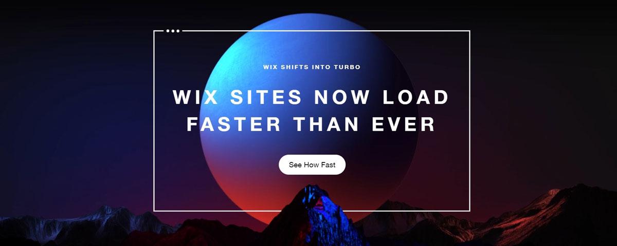 wix turbo fast loading speed