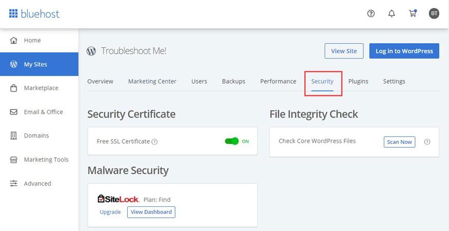 bluehost ssl certificate activation