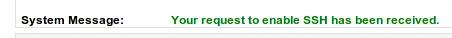 godaddy ssh activate request message