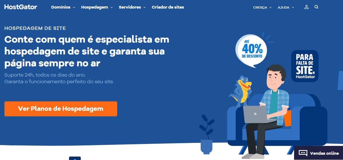 HostGator Brazil homepage