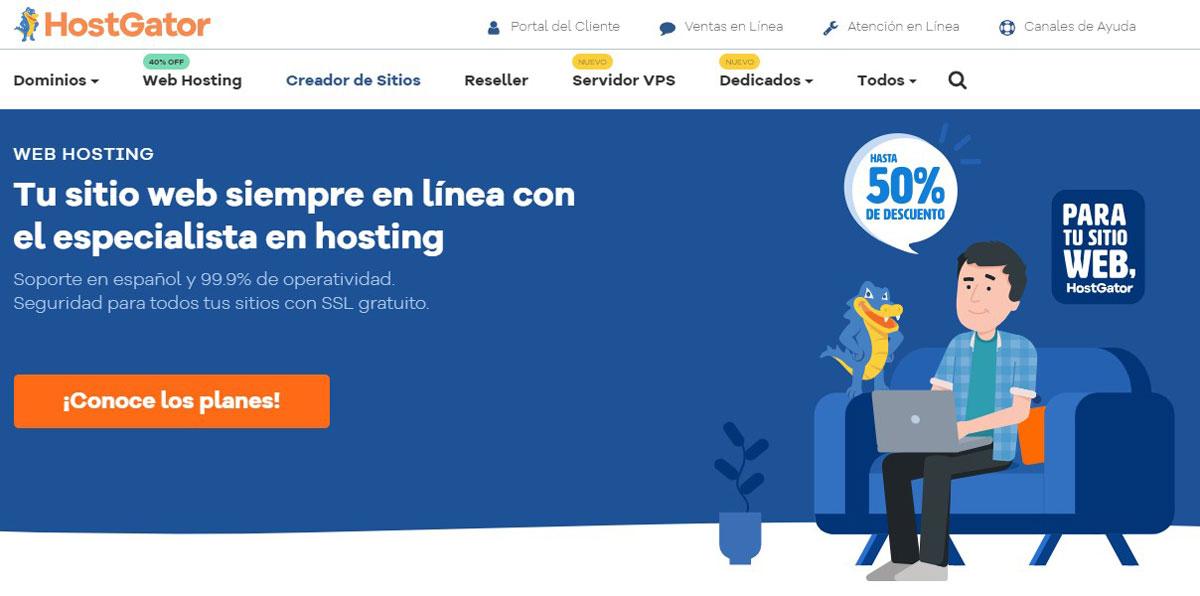 HostGator Chile Homepage