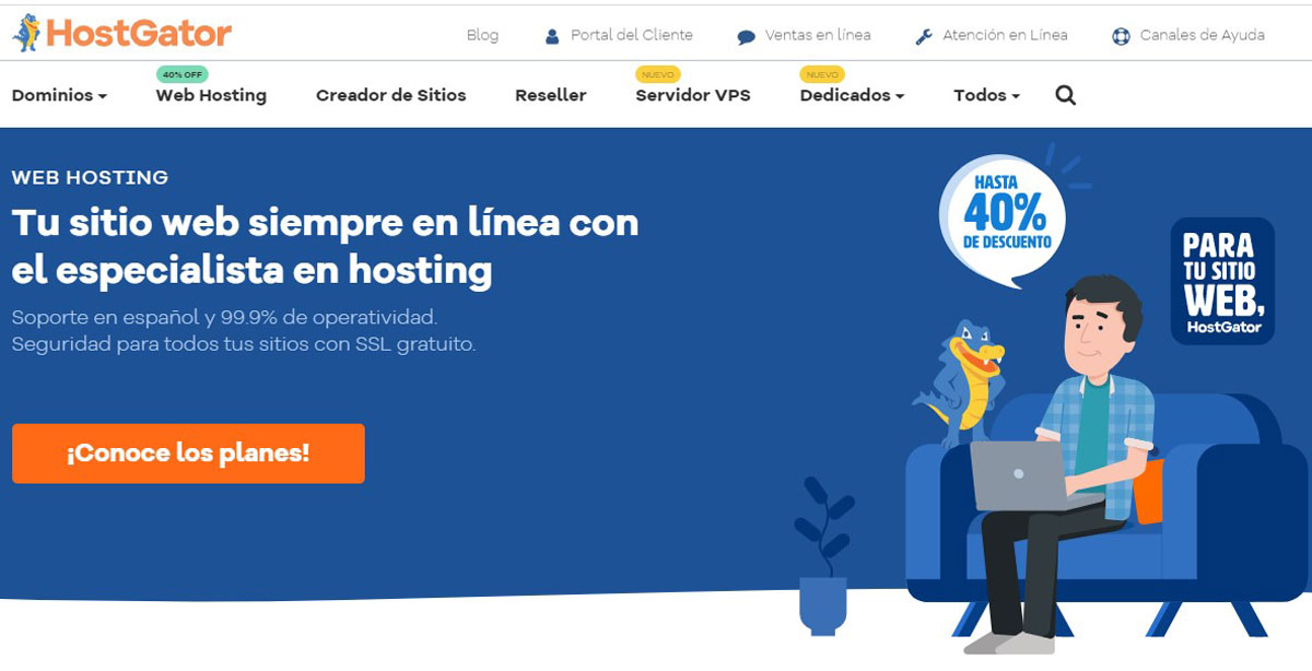 HostGator Mexico Homepage