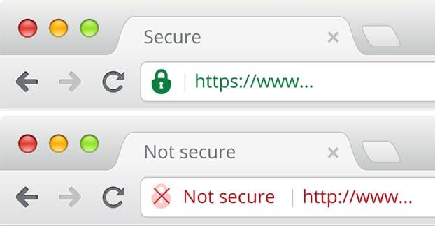 ssl certificate green red padlock