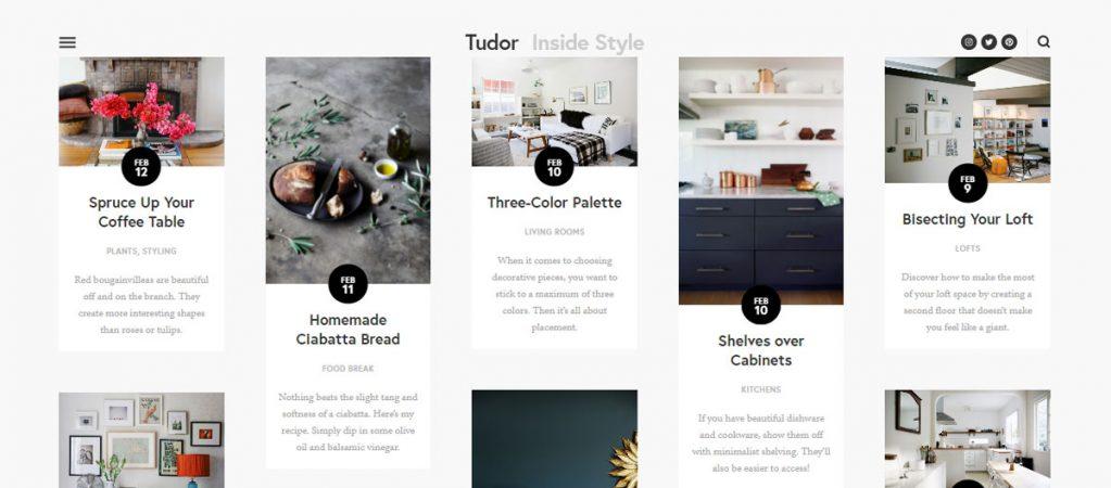 tudor squarespace template blog articles