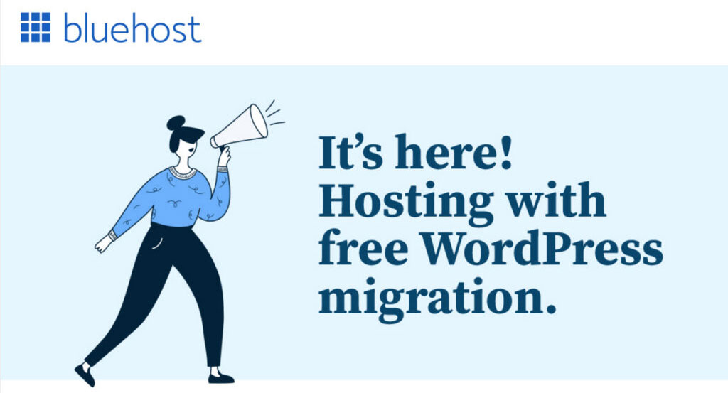 bluehost free wordpress migration service