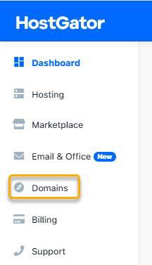 domains hostgator dashboard panel