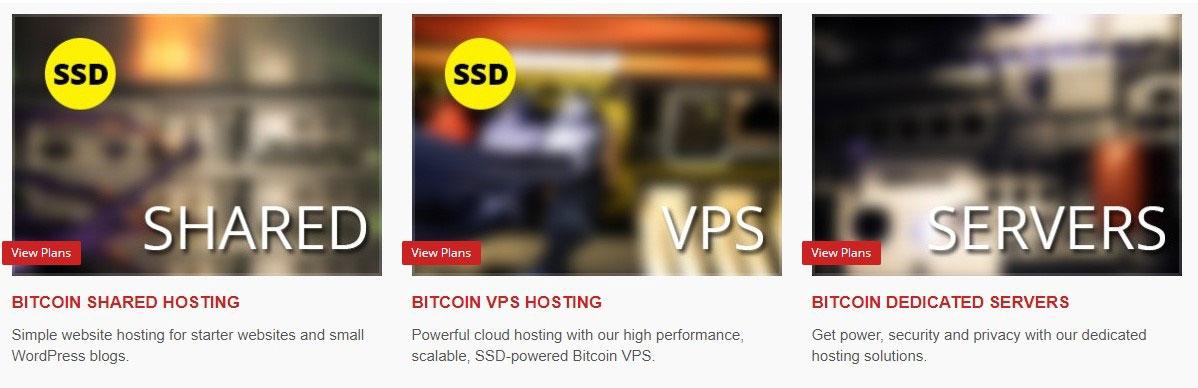 bitcoin web hosting plans