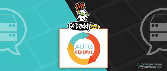 godaddy turn off auto renewal