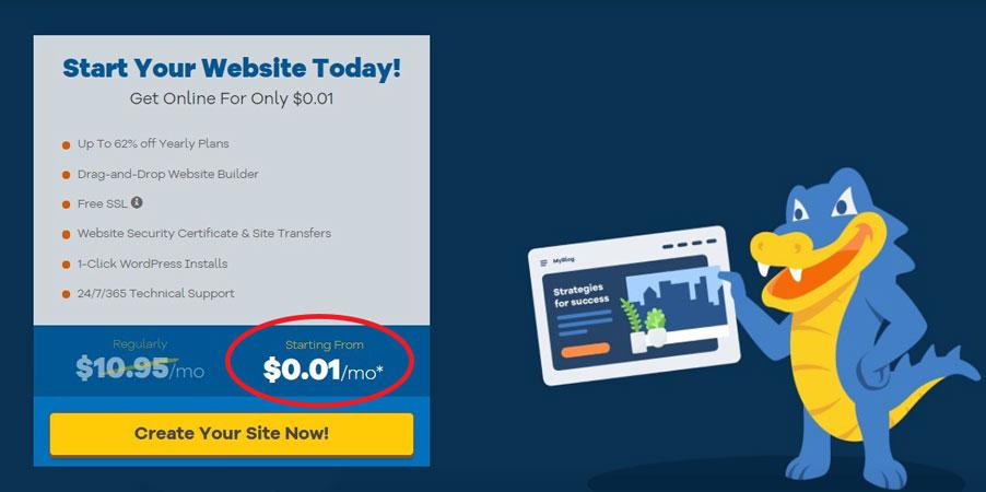hostgator wordpress hosting free trial