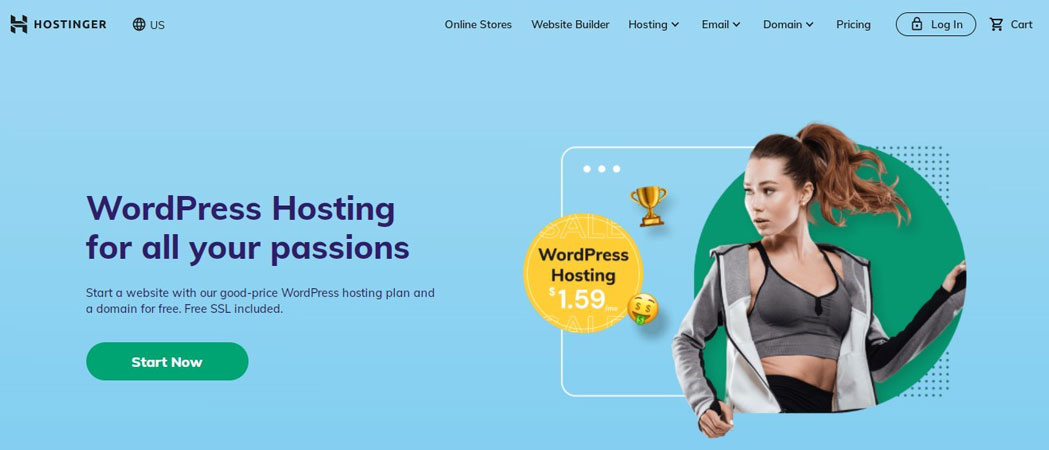 hostinger wordpress hosting free trial