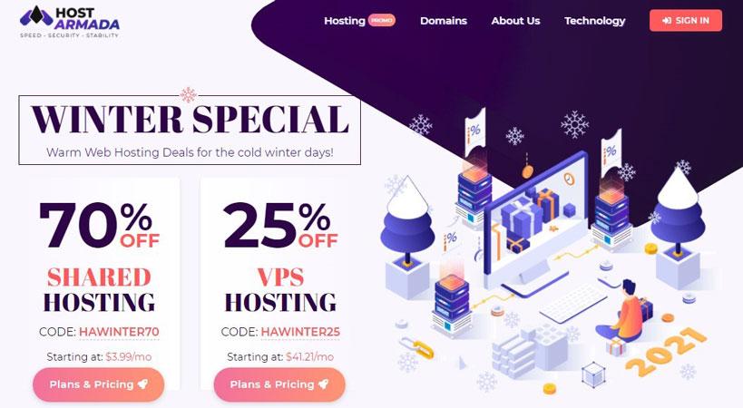 hostarmada hosting