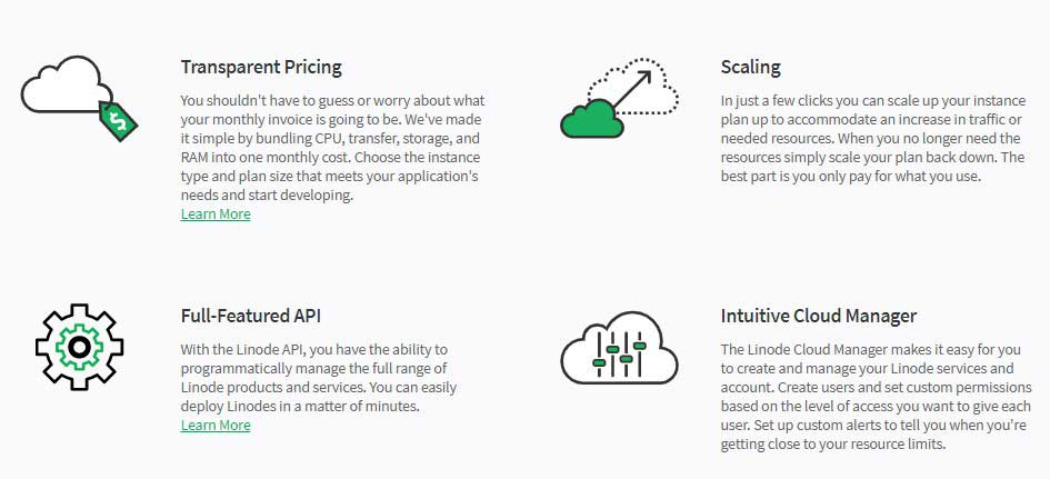 linode products resources