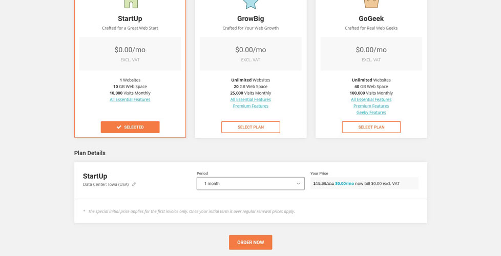 siteground 1 month trial offer