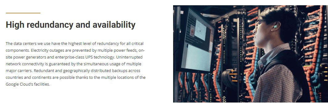 siteground data centers with high redundancy