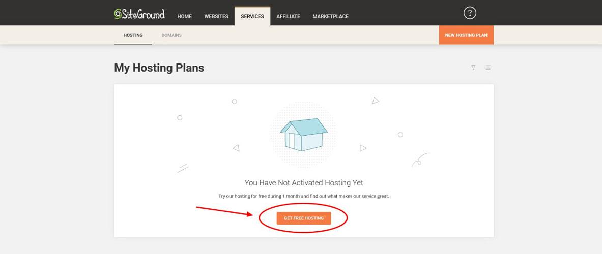 siteground get free hosting