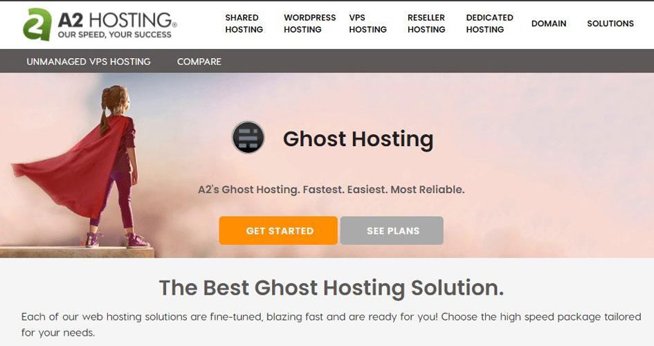 a2hosting ghost hosting
