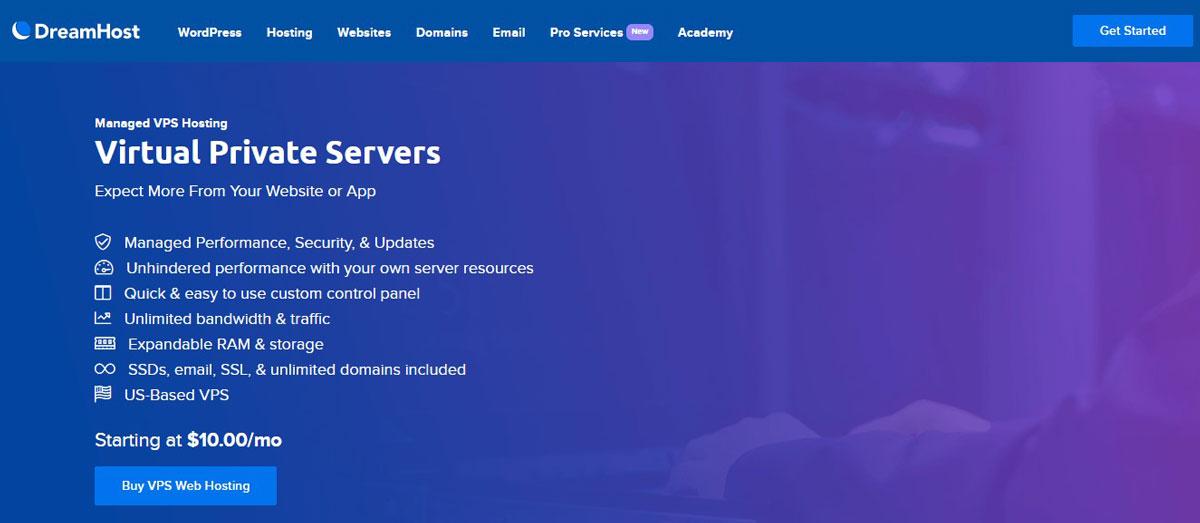 dreamhost managed vps hosting