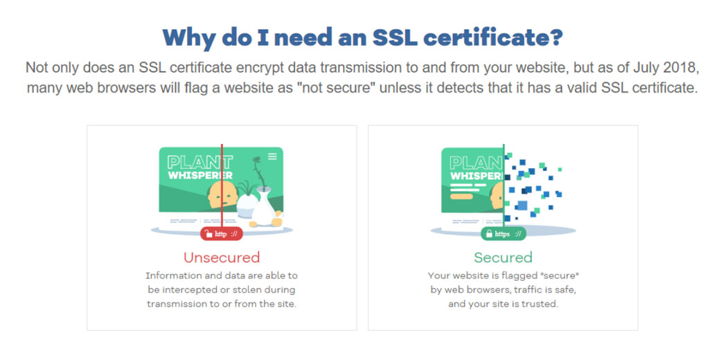 hostgator need for ssl certificate