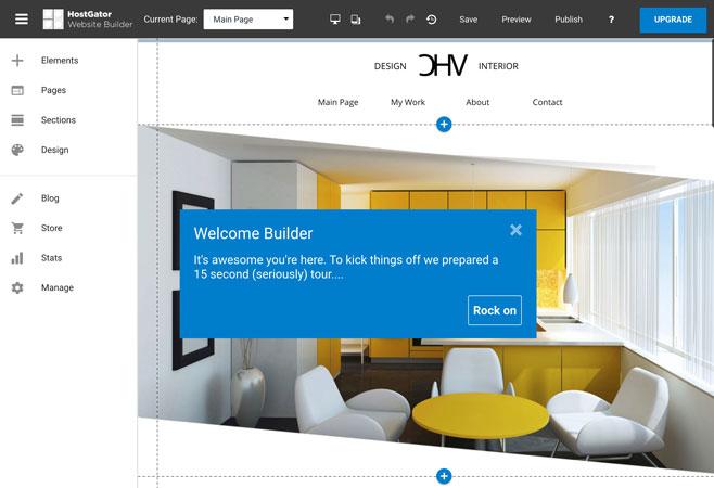 hostgator website builder