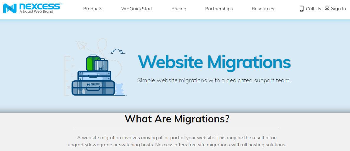 nexcess website migrations