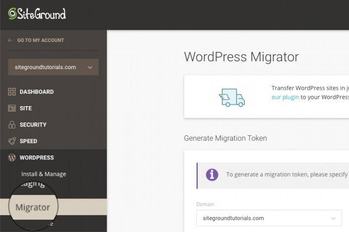 siteground wordpress migrator tools